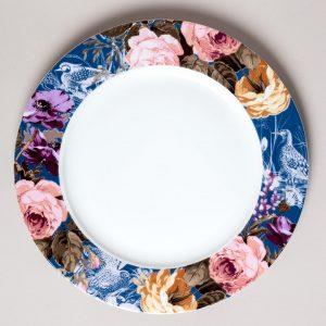 Wild Apricity Navy Bird Dinner Plate